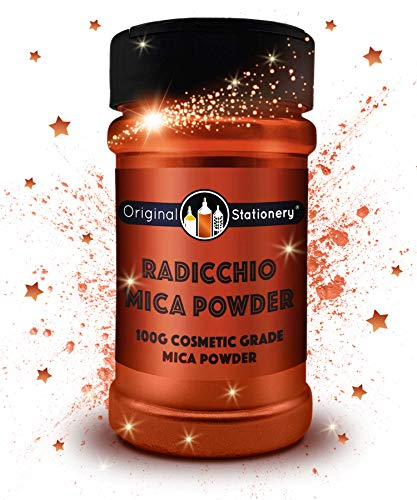 Mica Powder - 3.5 oz / 100 g [HUGE x3-5 THE SIZE OF OUR COMPETITORS] Cosmetic Grade - True Colors - Beautiful Mica for Slime, Soap Making, Bath Bombs, Make-up, Nails, Decor (Radicchio)