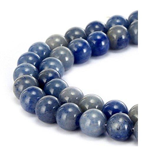 (Top Quality Natural Blue Aventurine Gemstone 6mm Round Loose Gems Stone Beads 15.5