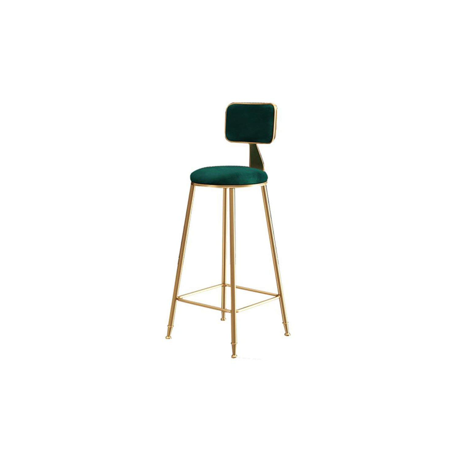 75cm Style14 tthappy76 Nordic Wrought Iron Bar Stool Modern Minimalist Home Backrest Dining Chair High Stool Cafe Bar Stool Bar Stool,65Cm Style19