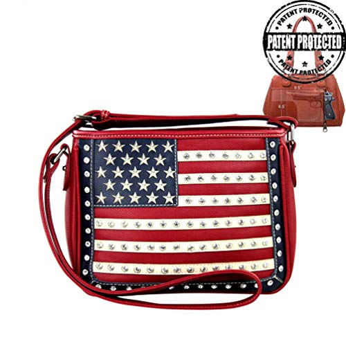 Montana West Womens Concealed Carry Crossbody Messenger Purse American Pride Collection US04G-8287