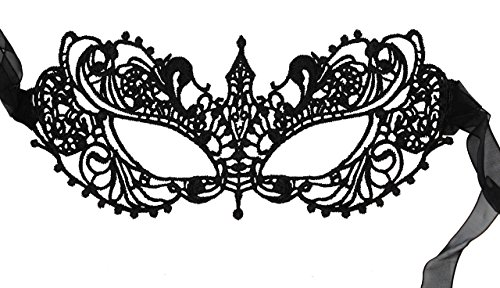 Luxury Mask Women's Lace Eye Mask For Masquerade Party Prom Ball Halloween New 2017 Update (The Halloween Masks)