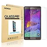 Samsung Galaxy Note 4 Screen Protector, NOKEA [9H Hardness] [Crystal Clear] [Easy Bubble-Free Installation] [Scratch Resist] Tempered Glass Screen Protector for Galaxy Note 4 (for Note 4)