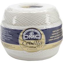DMC 167G 20-BLANC Cebelia Crochet Cotton, White, 405-Yard, Size 20