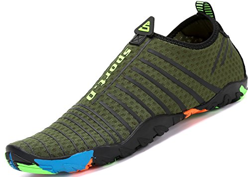 Yoga Calcetines la Nadada Skin Saguaro Playa Descalzo Verde de la Rayas de de Shoes la para Resaca de Aqua acuático TRfXOq