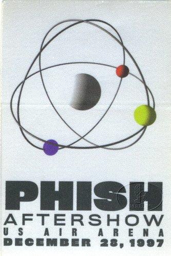 (PHISH 1997 U.S. Air Arena Backstage Pass ASO 12/28)