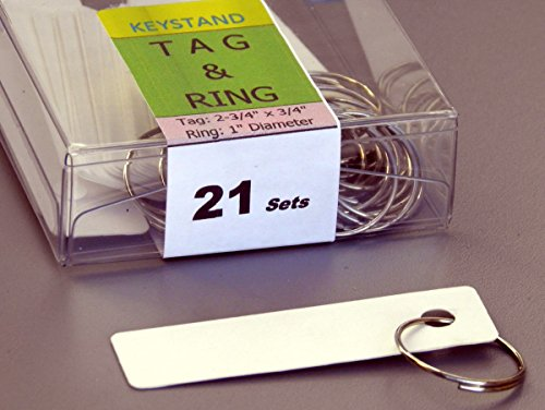 KEYSTAND # 21MGN, 21 Bolted Metal Hooks with Pre-Printed Numbers & Custom Name Plate (21 Tag & Ring Included) Photo #3