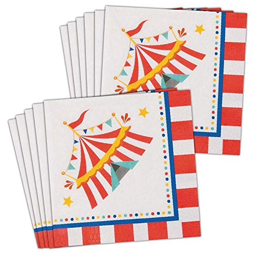 BirthdayExpress Carnival Lunch Napkins -