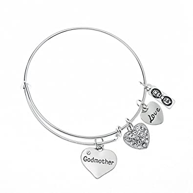 godmothers img stamp initial gift in baby this custom personalized godmother customize ideas bangle for feet silver bracelet sterling charm products