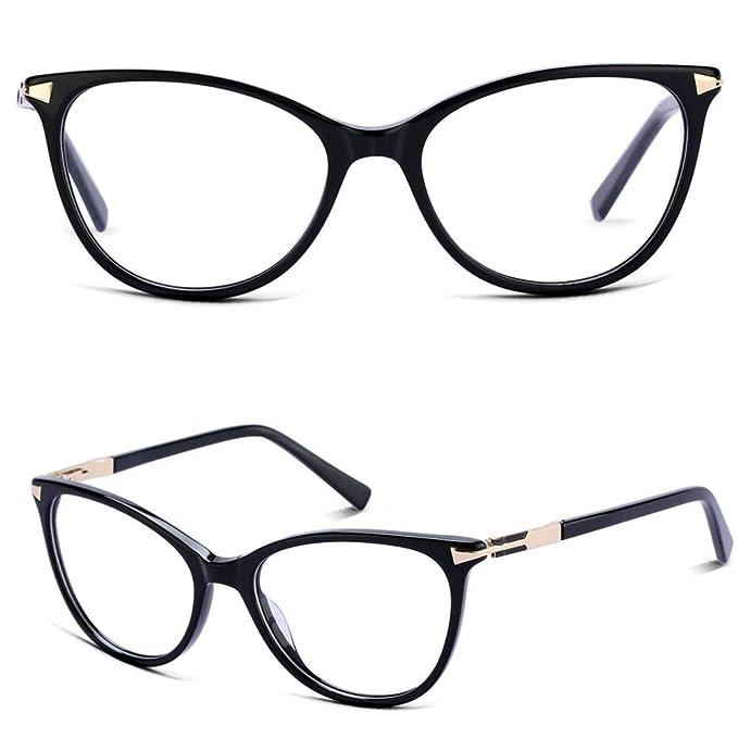 a813b9eeb690 Non Prescription Glasses Eyeglass Frames for Women, Cat Eye Glasses Frames  with Clear Lenes,