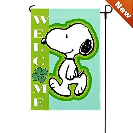 PATRICKS WELCOME GARDEN FLAG 12u0026quot; X 18u0026quot; Snoopy Charlie Brown