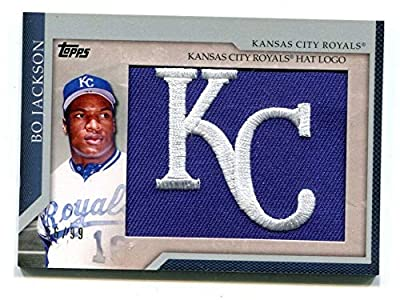 Bo Jackson 2010 Topps Kansas City Royals Hat Logo Card 56/99 48802