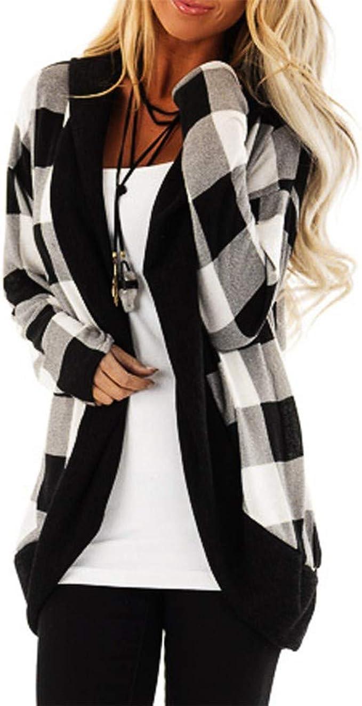 Mxjeeio 🔥 Mujer Invierno Cardigan Jersey de Punto Suelto Color ...