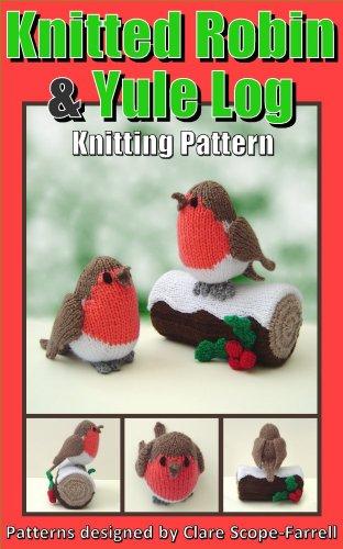 Knitting pattern for a  festive Yuletide Cute Christmas Robin Decoration