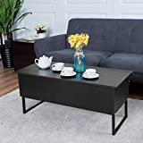 TANGKULA Coffee Table Lift Top Home Living Room Modern Wood Storage Furniture with Hidden Compartment