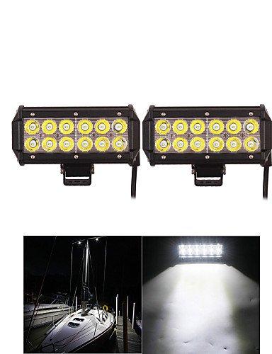Alan 2pcs 36w ligero bar Lámpara LED Cree barco tractor ...