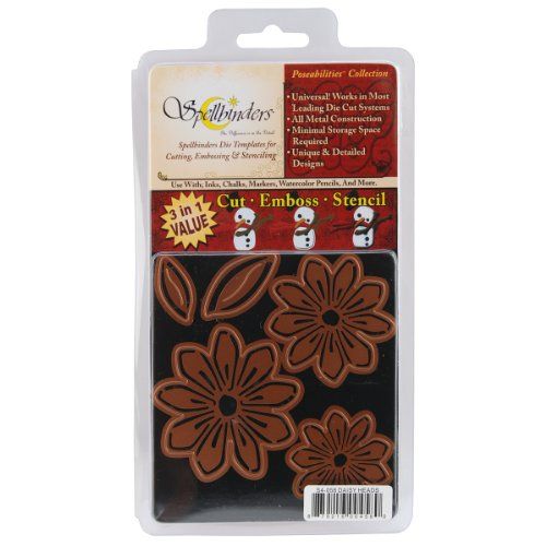 - Spellbinders Pose-Abilities 4-Inch by 4-1/4-Inch Cutting and Embossing Dies, Daisy Heads