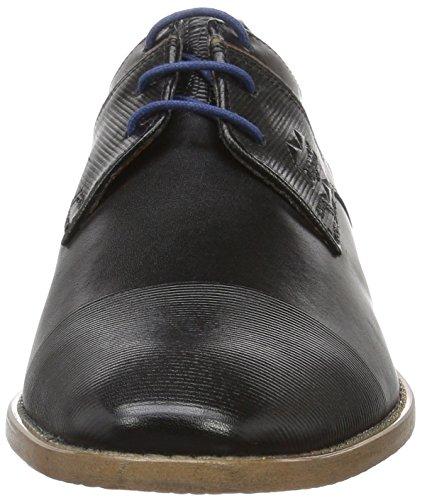 Bugatti 312193061010, Zapatos de Cordones Derby para Hombre Negro (Black/Cognac 1063)