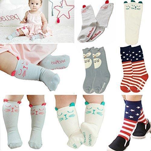 Non-slip Baby Floor Socks Cartoon Animal Baby Socks Childrens High Tube