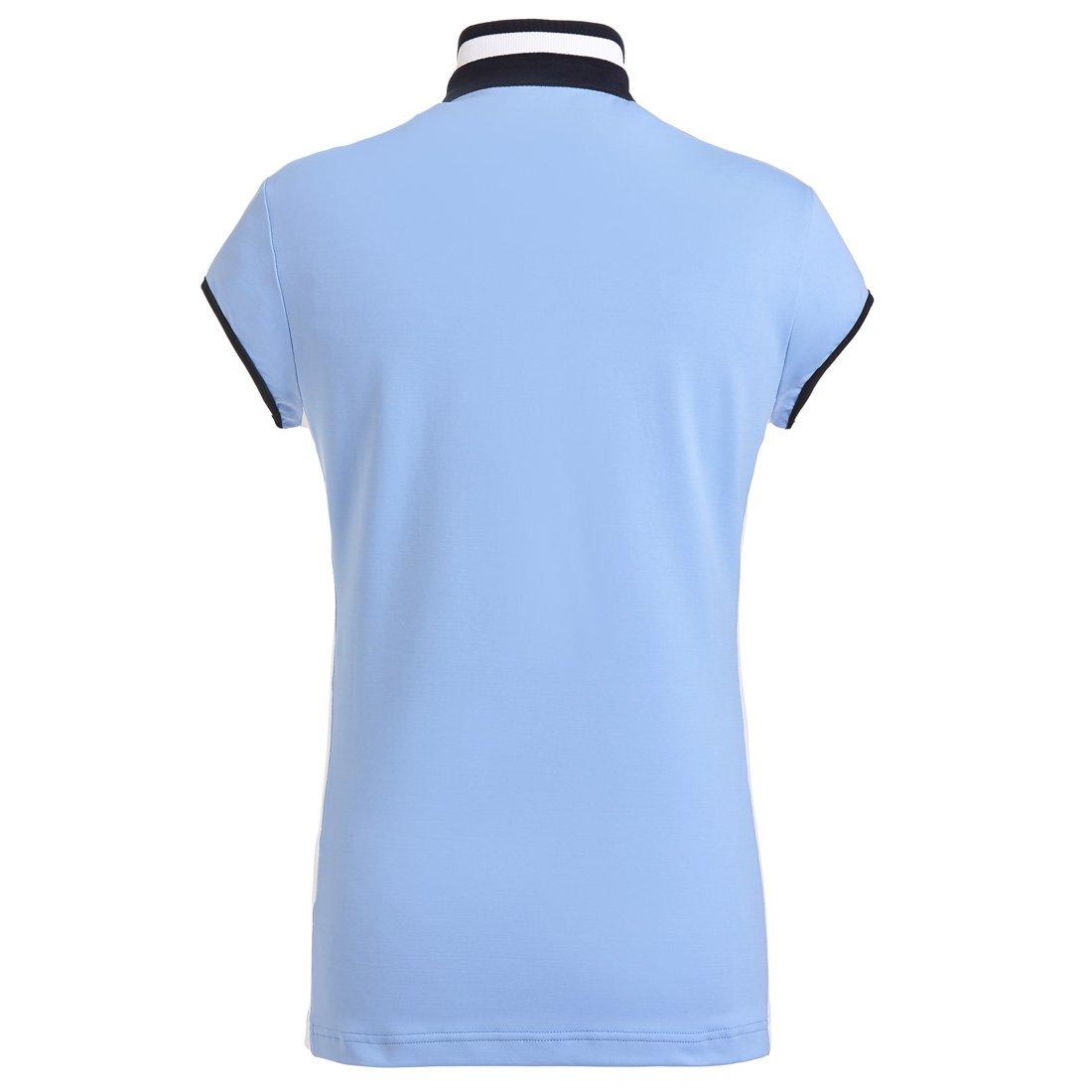 Polo de golf de señora como capa base de jersey elástico Azul S ...