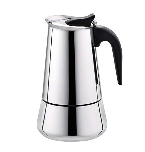 Cafetera Espresso Olla Estufa Moka Cafetera Hervidor de Acero ...