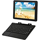 RCA Viking Pro 10 2-in-1 Tablet 32GB Quad Core Charcoal Laptop Computer with Touchscreen and Detachable Keyboard Google Android 5.0 Lollipop