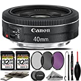 Canon EF 40mm f/2.8 STM Lens For The Canon XT, XTi, T1i, T2i, T3, T3i, T4i, T5, T5i, 10D, 20D, 30D, 40D, 50D, 60D, 70D, 7D DSLR Cameras. All Original Accessories Included - International Version