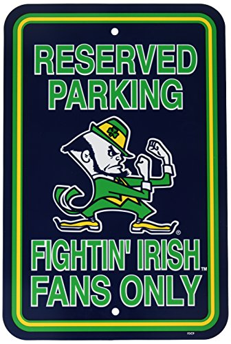 NCAA Notre Dame Fighting Irish 12-by-18 inch Plastic Parking Sign