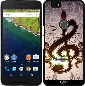 Funda para Google Nexus 6P (Huawei) - Música, Clef by nicky2342
