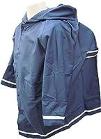 レインコート 子供用 (紺 ネイビー)ランドセルの上からOK キッズレイン 収納袋付 反射テープ 男女兼用 通園 通学 遠足 お受験