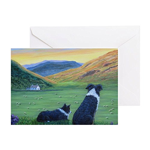 Collies Border Highland (CafePress - Highland Watch - Greeting Card, Note Card, Birthday Card, Blank Inside Matte)