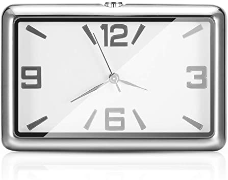 Winbang Auto Armaturenbrett Uhr Auto Uhren Quarzuhr Schöne Auto Dekoration Uhr Ornamente Mini Stick On Style Weiß Auto