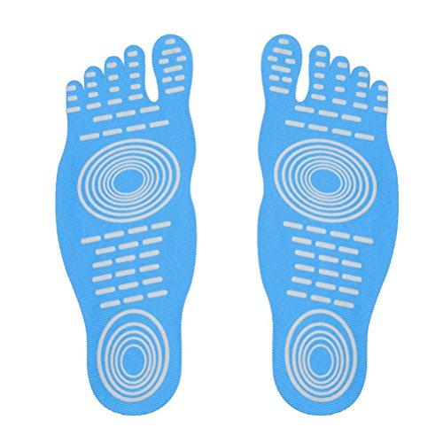 protezione yoga l'esercizio Calzini dei Blu piscina piscine le per per nudi d'acqua donne adesivo di antisdrucciolevoli a piedi per piedini adesivo 1 pattino calzini flessibili paio piedino elastica di r6q1A