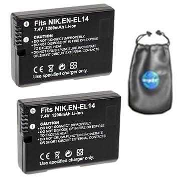 ValuePack (2 hilos): Digital batería de repuesto para Nikon EN ...