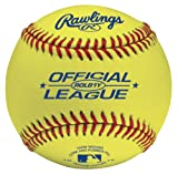 Rawlings Optic Yellow Practice Baseballs, 12 Count, ROLB1