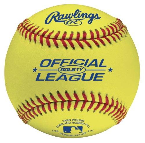 Rawlings Optic Yellow Practice Baseballs, 12 Count, ROLB1 by Rawlings