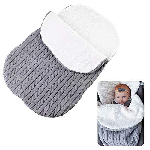 Patchwork Crochet Fleece-Bottom Warm Baby Blanket