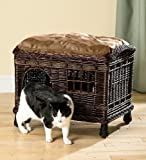 Rattan Two-Tier Cat Bed With Washable Pillows, My Pet Supplies