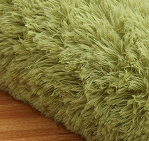 TideTex Green Solid Super Soft Child Bedroom Area Rug