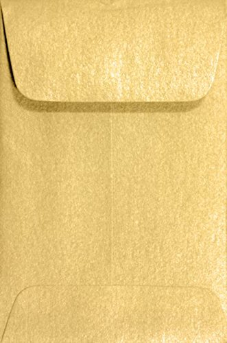 #1 Coin Envelopes (2 1/4 x 3 1/2) Gold Metallic (250 Qty.) | Perfect for Weddings, Parties & Place Cards | Fits Small Parts, Stamps, Jewelry, Seeds | Mini / Crafting Envelopes | 80lb Text Paper