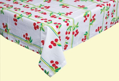(Cherries Plain & Fancy Vintage Style Tablecloth)