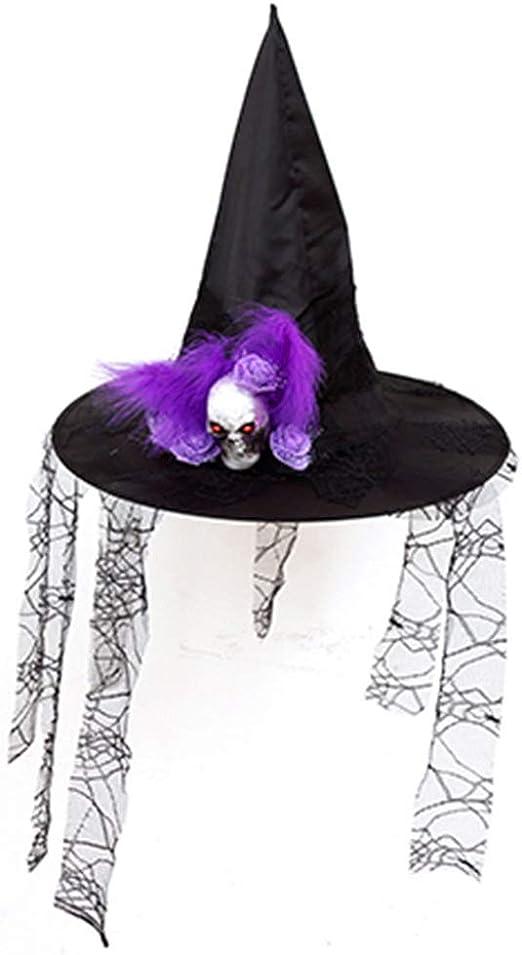 Disfraz Adulto Halloween Sombrero de bruja Negra Disfraz de ...