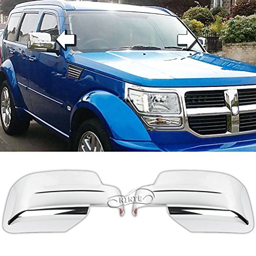 NINTE for 2007-2012 Dodge Nitro / 2008-2013 Jeep Liberty Chrome Painted Full Mirror Covers