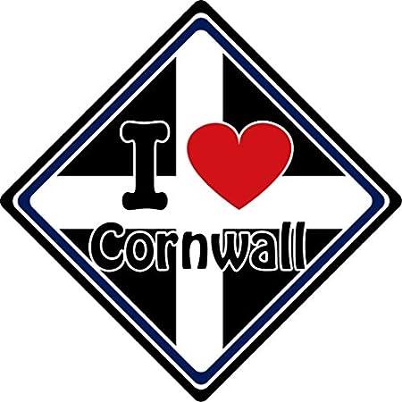 I Love Cornwall Car Sign 512ffc ea6L