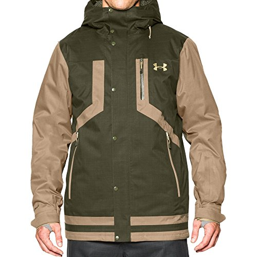 Under Armour Outdoor Coldgear Hood (Under Armour Men's Storm ColdGear Infrared Fractle Jacket, Greenhead/Deer Hide, X-Large)
