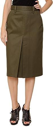 Dsquared² Falda para mujer, Color: Verde Militar, Talla: 36: Amazon ...