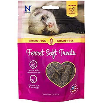 N-Bone 1 Pouch Ferret Soft Treats Chicken Flavor, 3 oz