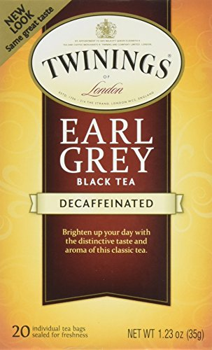 Twinings Black Tea, Earl Grey, 20 Count Bagged Tea (6 Pack)