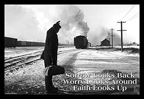 Buyenlarge Sorrow Looks Back -Worry Looks Around - Faith Looks Up - Gallery Wrapped 32''X48'' canvas Print., 32'' X 48'''' by Buyenlarge