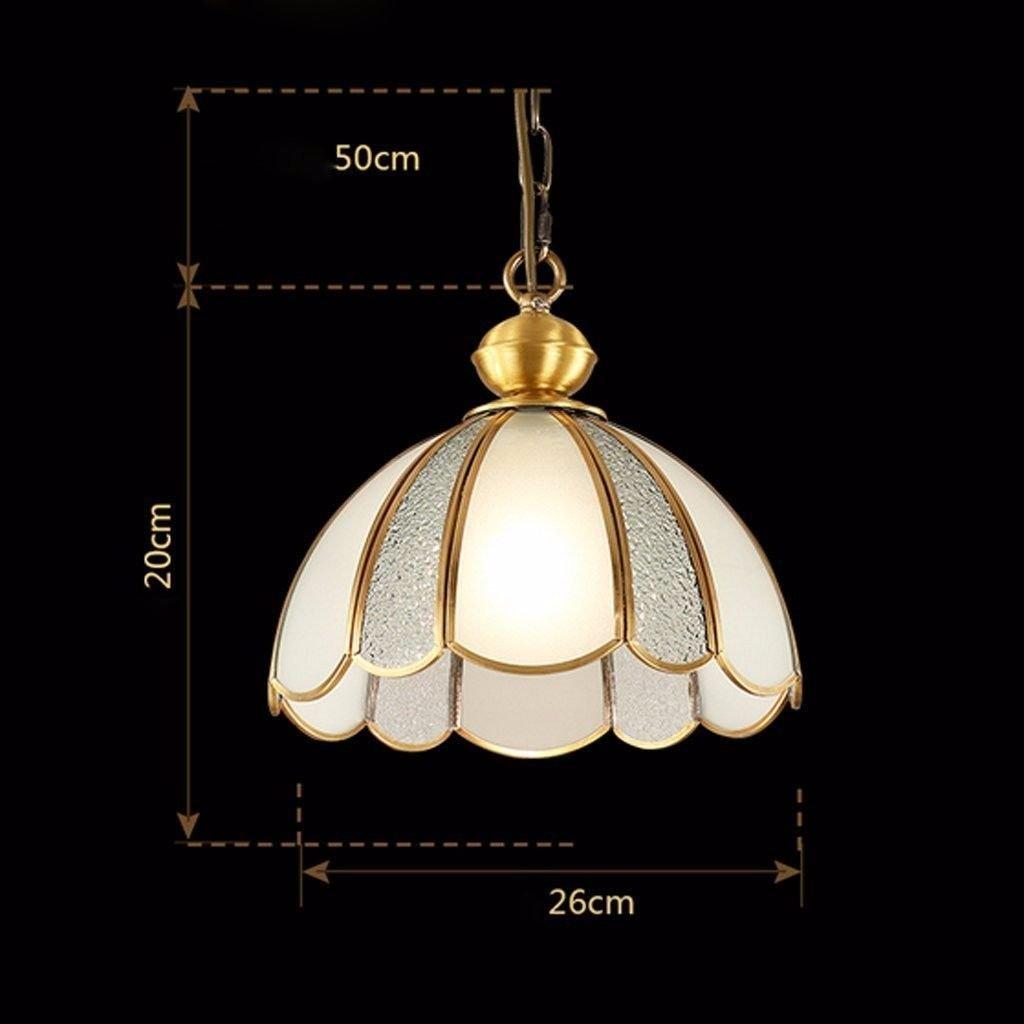 照明シャンデリア寝室研究、42 * 39センチメートルと銅のレストランでシャンデリア B07F7VF3PQ