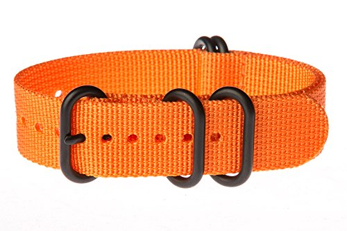 OhFlash-20mm-Solid-Orange-Zulu-5-Ring-PVD-G10-Nylon-Nato-Militaty-Watch-Band-Strap